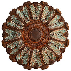 Faux patina ceiling medallion
